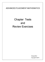 CHapter and Test Reveiw Exercises